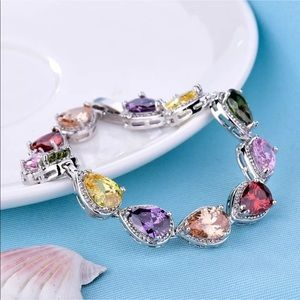 Jewelry - 18K multicolored sapphire bangle